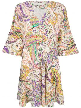 Mixed Print Fit-and-flare Dress - Etro