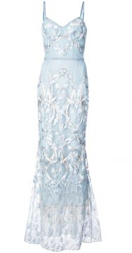 Embroidered Corset Gown - Marchesa Notte