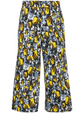 Wide Legged Printed Trousers - Marni