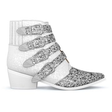 Buckled Glitter Boots - Toga Pulla