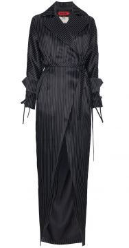 Oversized Maxi Stripe Trench Coat - Ronald Van Der Kemp