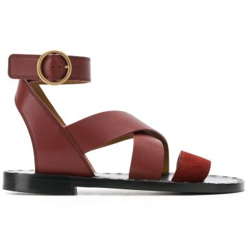 Round Toe Ankle Buckle Sandals - Chloé