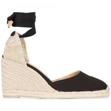 Wedge Heel Espadrllles With Ankle Ribbon - Castañer