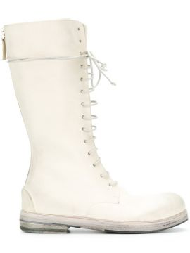 Knee Length Lace-up Boots - Marsèll