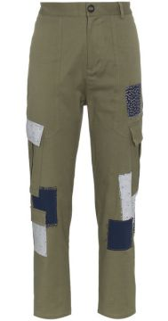 Cotton Combat Trousers With Patches - 78 Stitches
