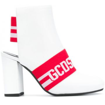 Backless Logo Ankle Boots - Gcds