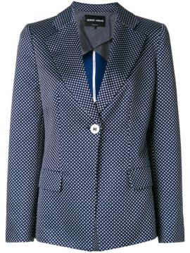 Embroidered Fitted Blazer - Giorgio Armani