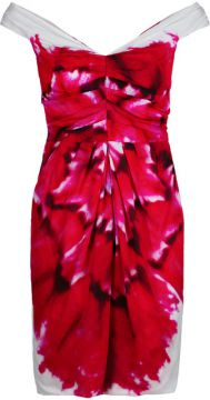 Ruched Bodice Printed Dress - Moschino