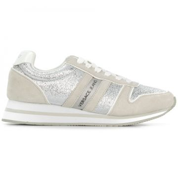 Glitter Effect Trainers - Versace Jeans