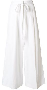 Tie Waist Cropped Palazzo Trousers - Rochas