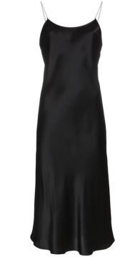 Silk Chain Strap Slip Dress - Michael Lo Sordo