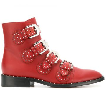 Studded Buckled Boots - Givenchy