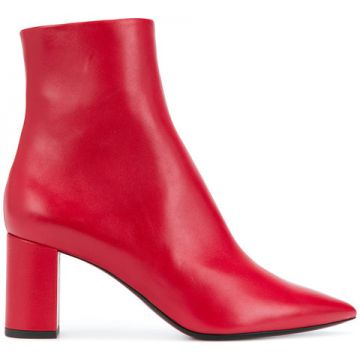 Ankle Boot De Couro - Saint Laurent