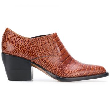 Woven Pointed Ankle Boots - Chloé