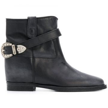 Buckled Ankle Boots - Via Roma 15