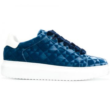 Patterned Platform Sneakers - Steves