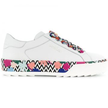 Chunky Printed Sole Sneakers - Hogan