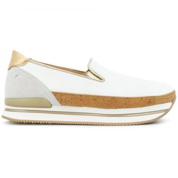 Cork Embellished Platform Sneakers  - Hogan