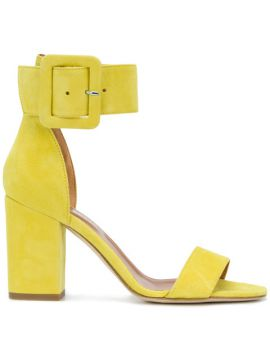 Buckle Ankle Strap Sandals - Paris Texas