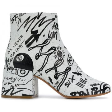 Graffiti Boots - Mm6 Maison Margiela