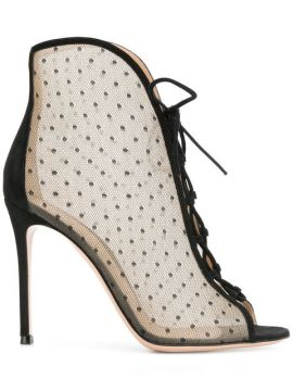 Point Desprit Lace-up Ankle Booties - Gianvito Rossi