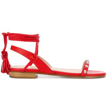 Wrapped Ankle Sandals - Red Valentino