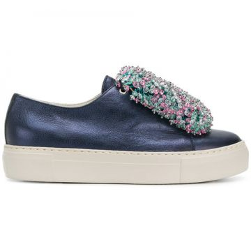 Beaded Front Platform Sneakers - Agl