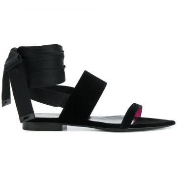 Ankle Wrap Sandals - Saint Laurent