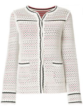 Fitted Perforated Jacket - Charlott