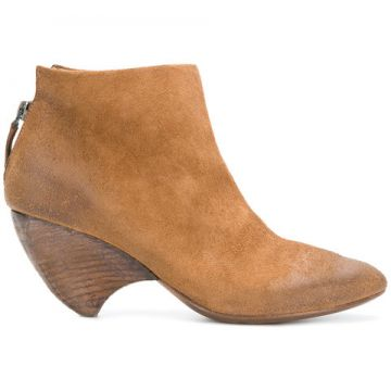Curved Heel Ankle Boots - Marsèll