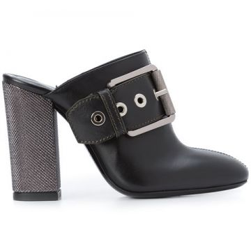 Buckle Front Boot Style Mules - Barbara Bui