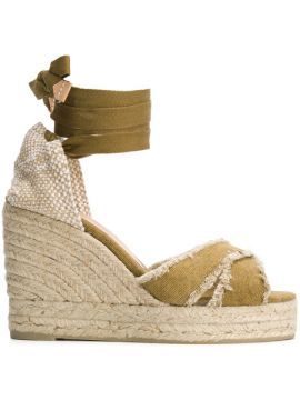 Ankle Tie Wedge Sandals - Castañer