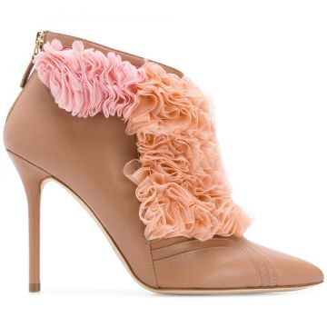 Fluffy Frill Tulle Detail Boots - Malone Souliers