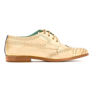 Oxford De Couro Metalizado - Blue Bird Shoes