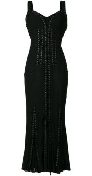Lace-up Long Corset Dress - Dolce & Gabbana