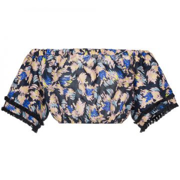 Yuna Print Silk Linen-blend Cropped Top - A Peace Treaty