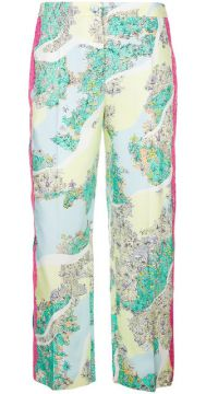 Floral Cropped Trousers - Emilio Pucci