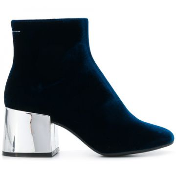 Metallic Heel Boots - Mm6 Maison Margiela