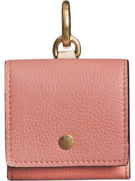 Small Square Leather Coin Case Charm - Burberry