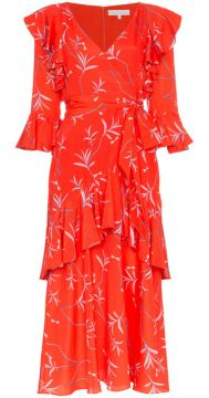 Aiana Ruffle Print Midi Dress - Borgo De Nor