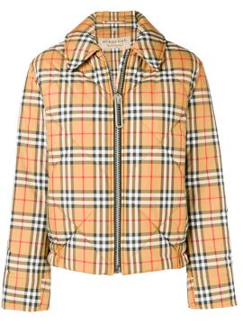 Checked Bomber Jacket - Burberry