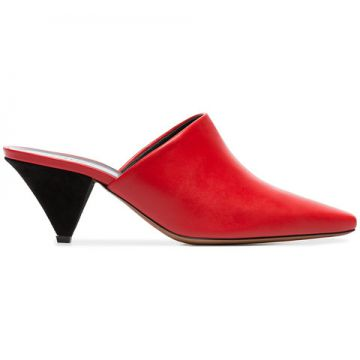 Red And Black Cina 60 Leather Mules - Neous