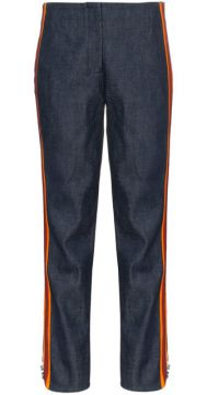 High Waist Striped Slim-fit Jeans - Calvin Klein 205w39nyc