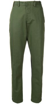 Contrast Fitted Trousers - Nº21