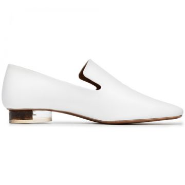 White Brassavola 20 Leather Loafer - Neous