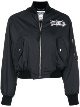 Safety Pin Logo Patch Bomber - Moschino