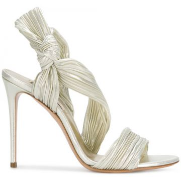 Pleated Satin Sandals - Casadei