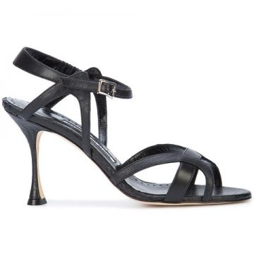 Agara 90 Snake Embossed Sandals - Manolo Blahnik