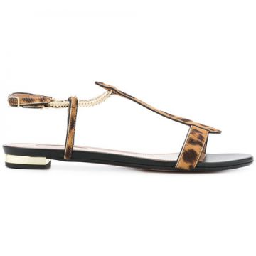 Vogue Leopard Sandals - Aquazzura