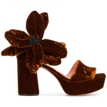 Oversized Flower Sandals - Rochas